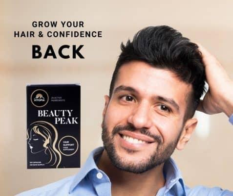 Beauty peak hair man